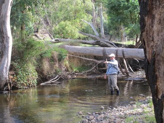 Improving fly fishing on stream.