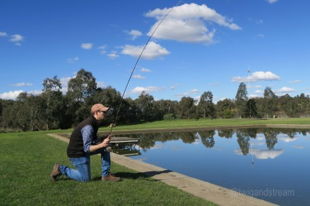 Advanced flyfishing casting lessons Melbourne. Stealthy casts , slack lines