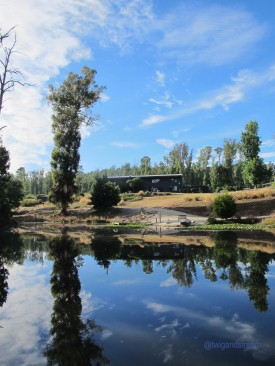 Saladin Lodge, reflections on the Lake