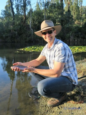 Catching your first trout fly fishing
